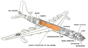 Convair B-36 Peacemaker bomber cutaway