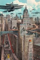 Future New York postcard