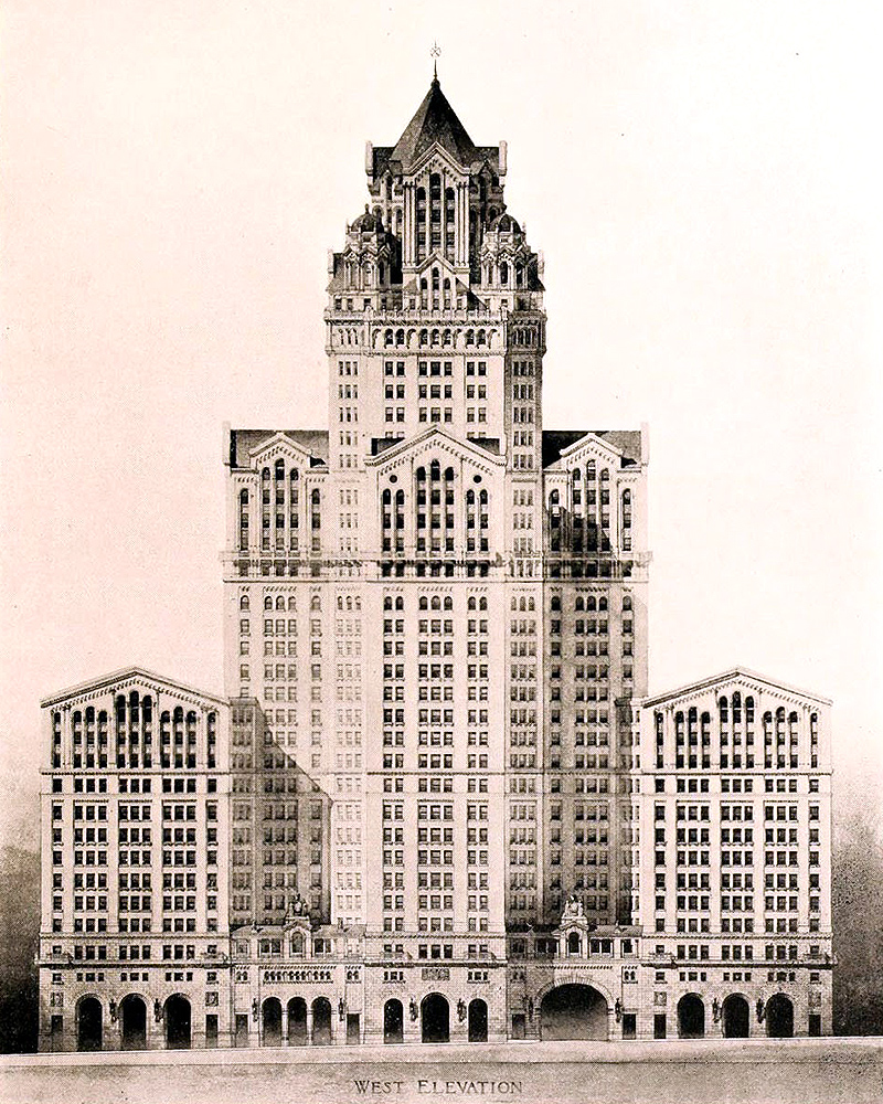 Manhattan Municipal Building by Henry Marshall