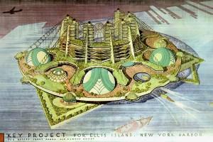 New York Ellis Island design by Frank Lloyd Wright