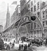 New York Pneumatic Elevated Railway design