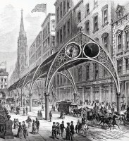 New York Pneumatic Elevated Railway design