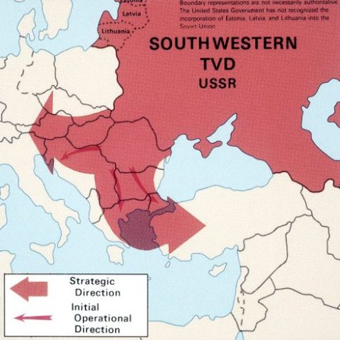 Soviet invasion of Southwestern Europe map