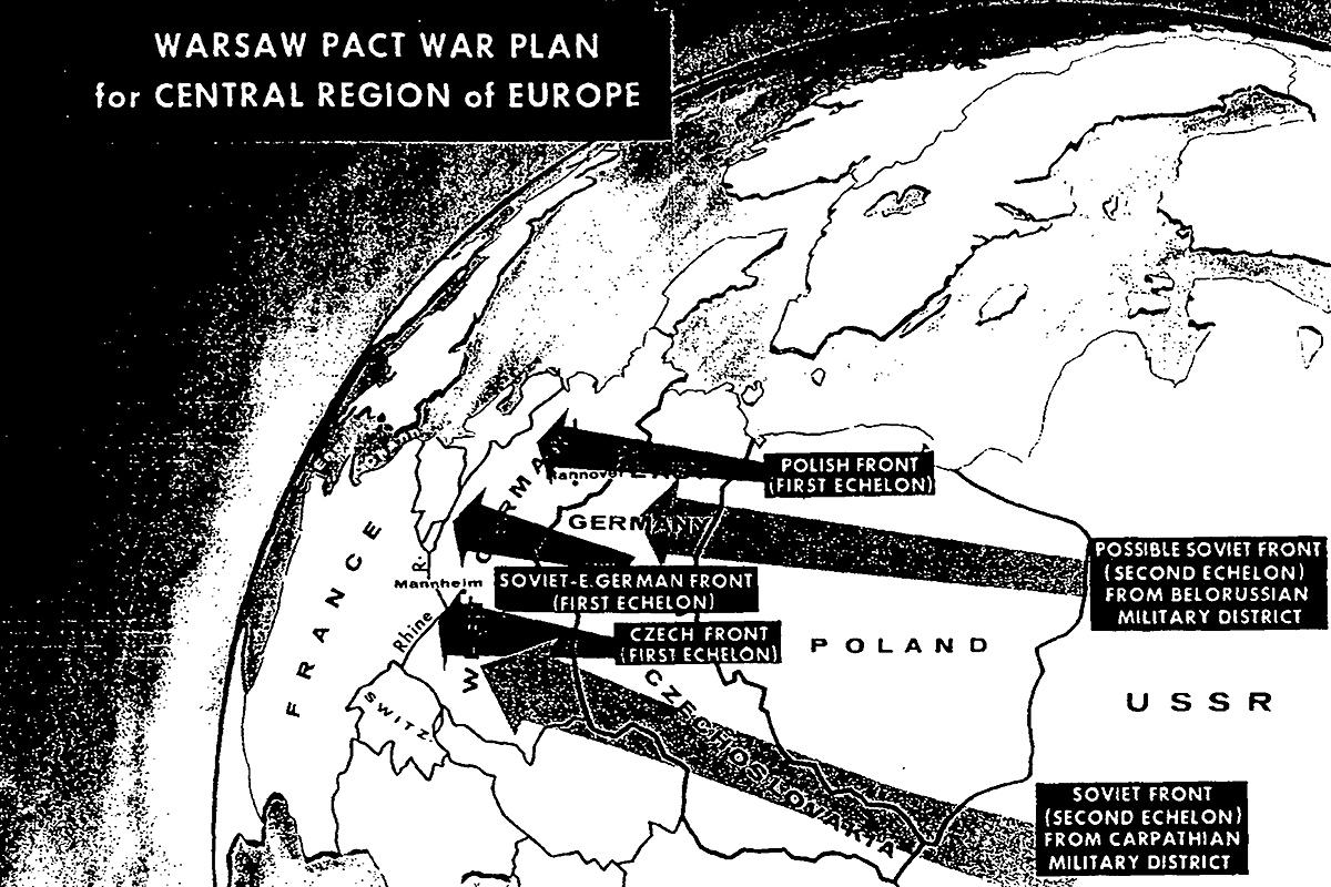 Warsaw Pact invasion of Europe map