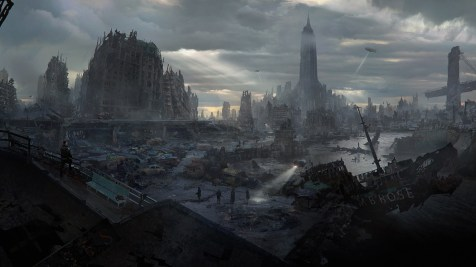 Wolfenstein: The New Order concept art of New York after a nuclear attack (Bethesda Softworks)