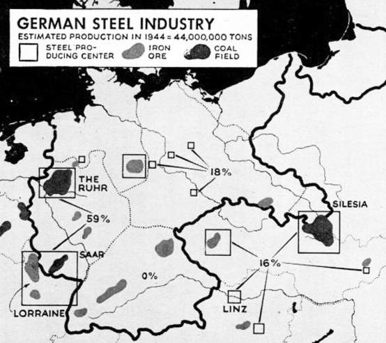 Germany steel industry map