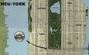 Neu York map