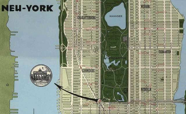 Neu York map