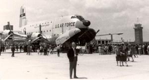 American Douglas C-124 cargo aircraft Zaragoza Spain