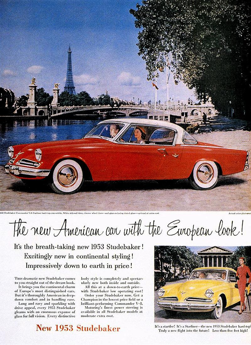 1953 Studebaker advertisement