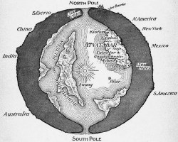 Hollow Earth map
