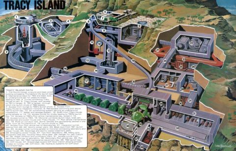 Thunderbirds Tracy Island cutaway