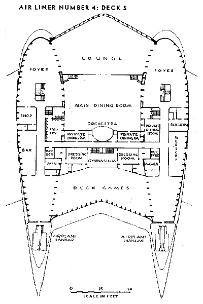Airliner Number 4 deck plan