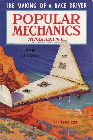 Popular Mechanics February 1938 cover
