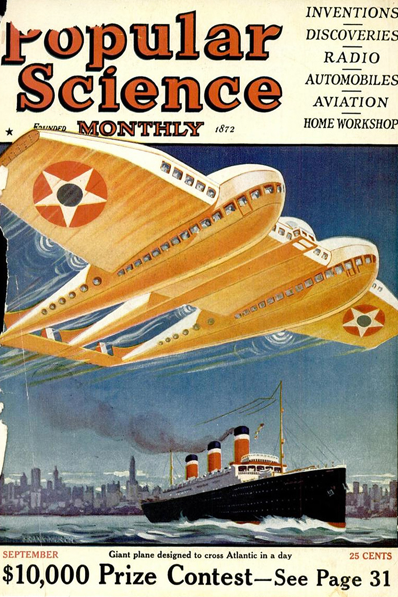 Popular Science September 1925 cover
