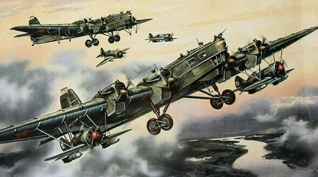 Tupolev TB-3 bomber artwork