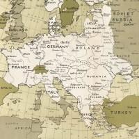 1943 Europe map