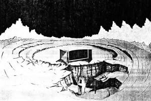 American nuclear reactor Moon