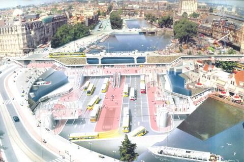 Amsterdam bus terminal design