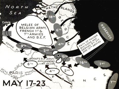 German invasion Belgium map