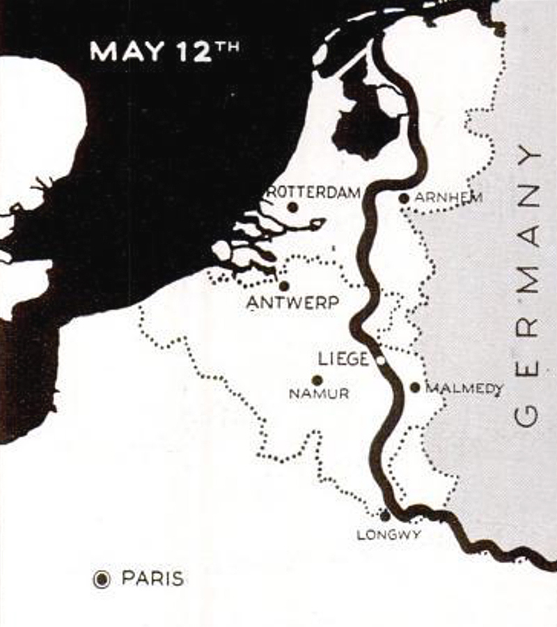 German invasion Netherlands map