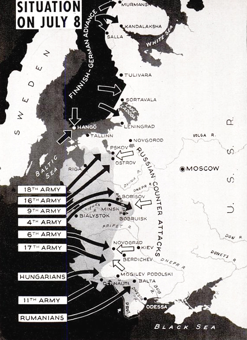 German invasion Soviet Union map