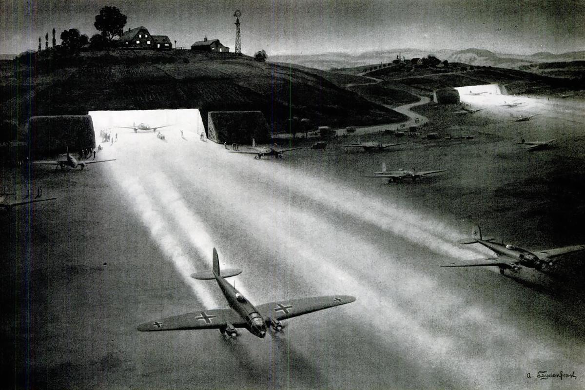 Heinkel He 111 bomber art