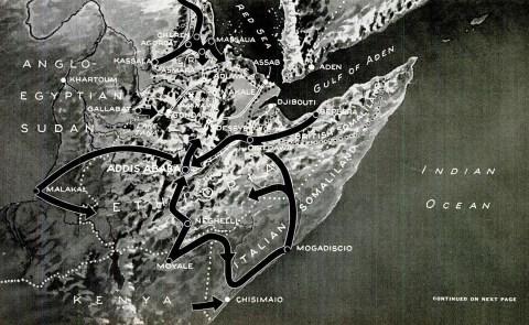 Italian East Africa war map