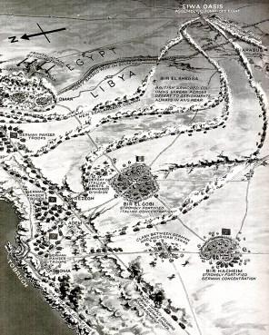 North Africa war map