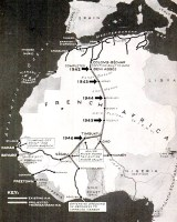 Sahara railway map