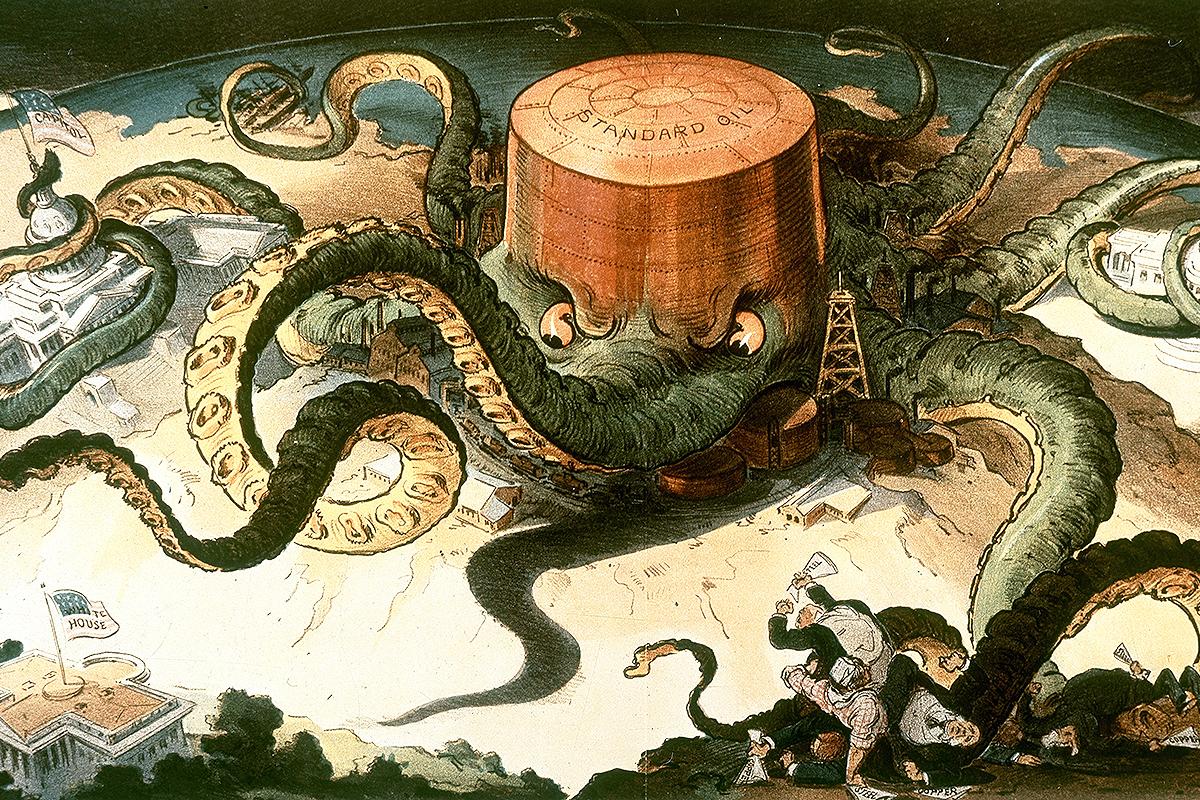 1904 Standard Oil octopus cartoon