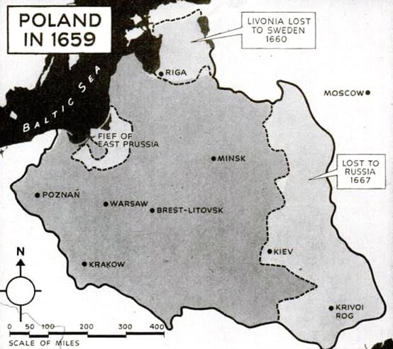 Poland 1659 map
