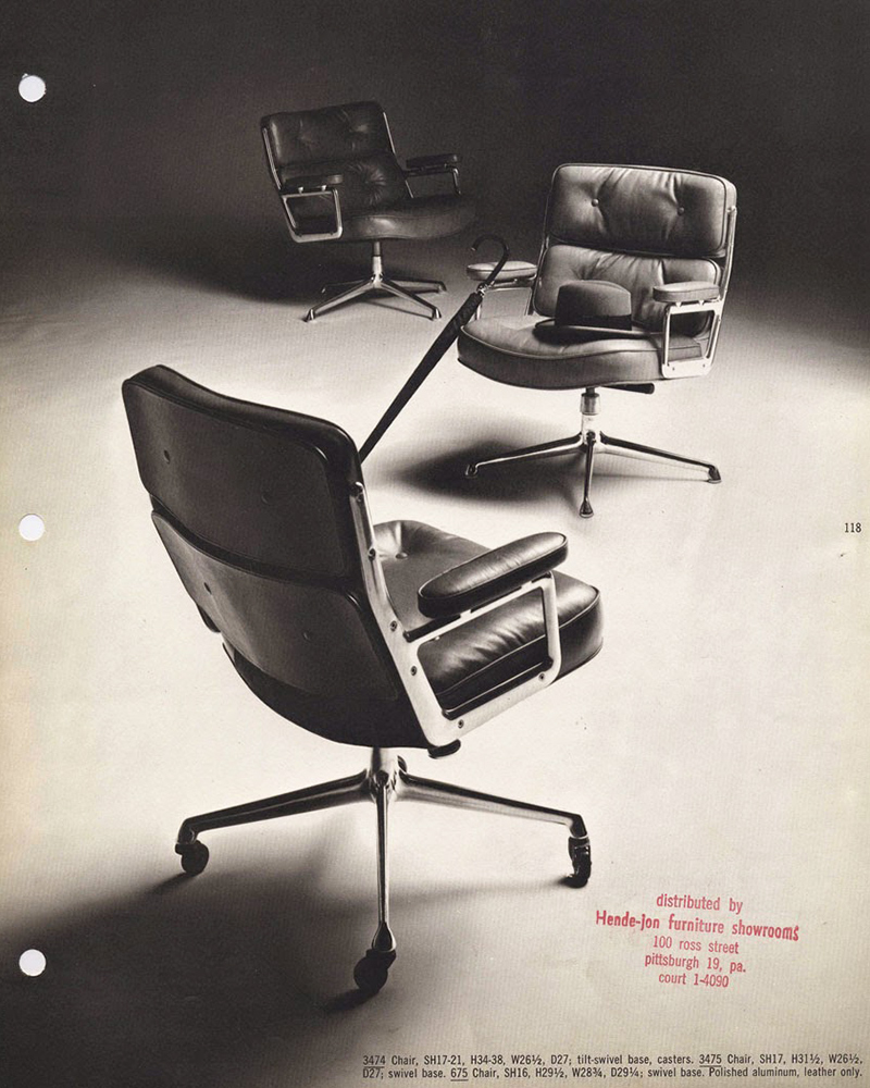 1964 Eames Time-Life Desk Chair brochure