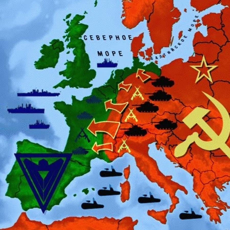 Soviet invasion Europe map