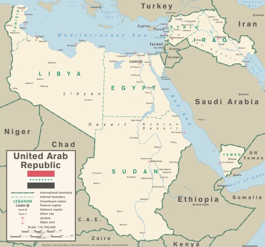 United Arab Republic map