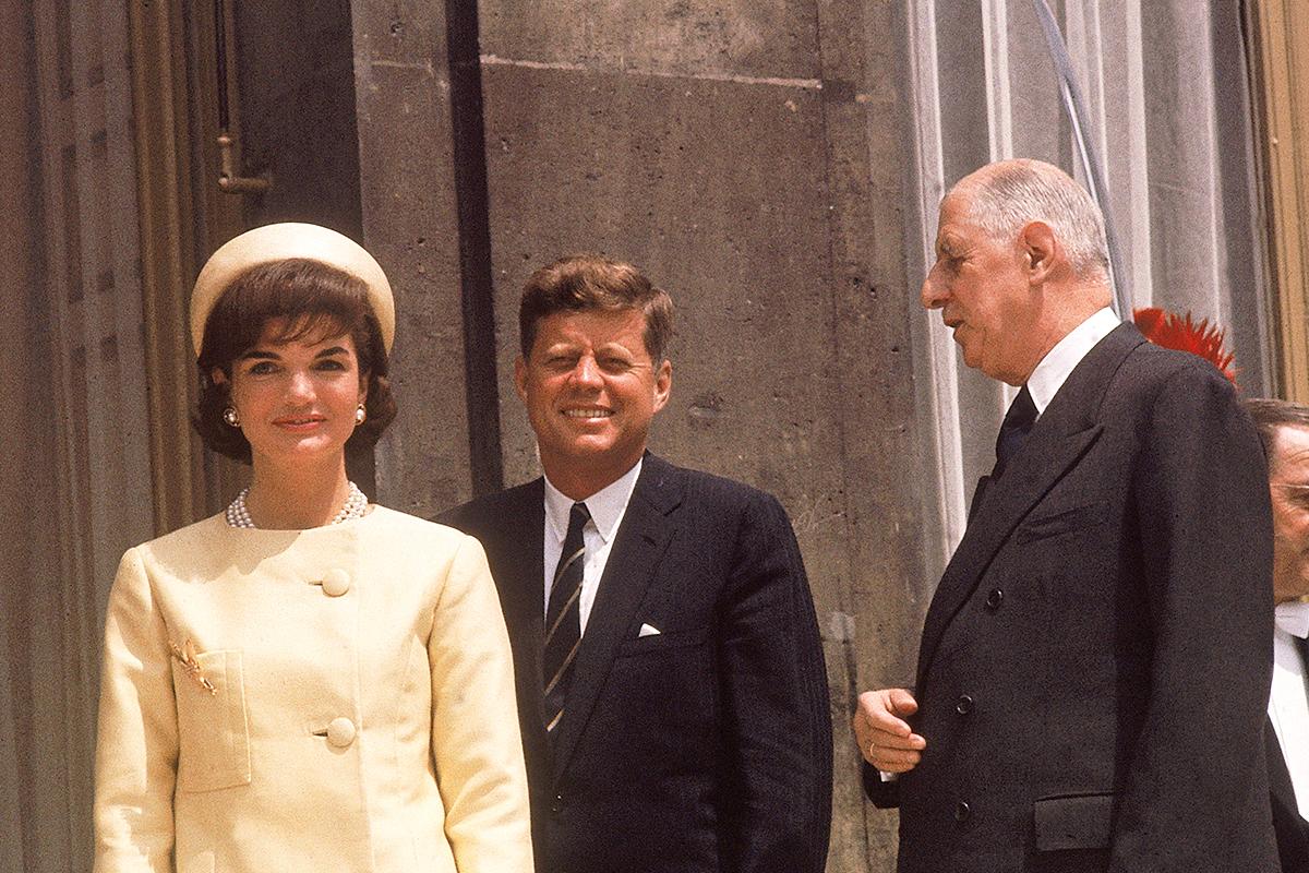 Jacqueline John Kennedy Charles de Gaulle