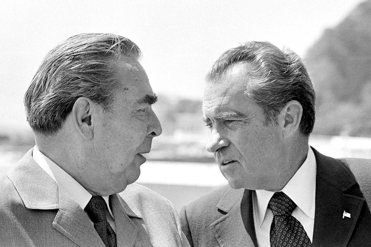 Leonid Brezhnev Richard Nixon