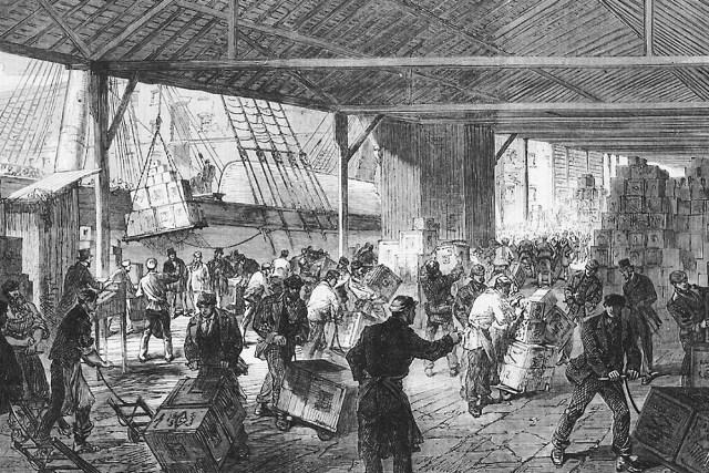 East India Docks London illustration