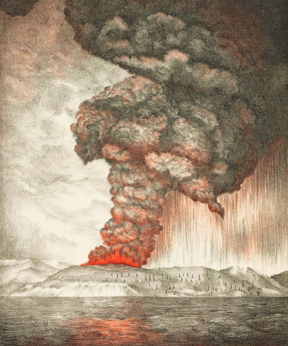 Krakatoa eruption illustration