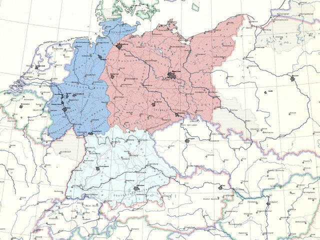 Morgenthau Plan Germany map