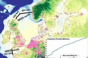 Northern European Enclosure Dam map