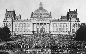 Reichstag Berlin Germany protest