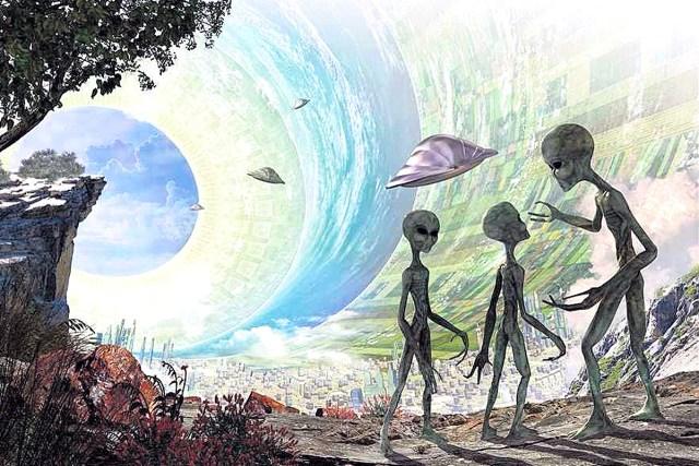 Hollow Earth aliens artwork