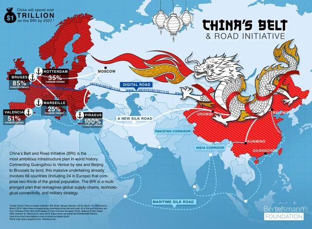 China Belt and Road Initiative map