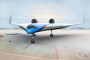 Flying-V flying wing concept art