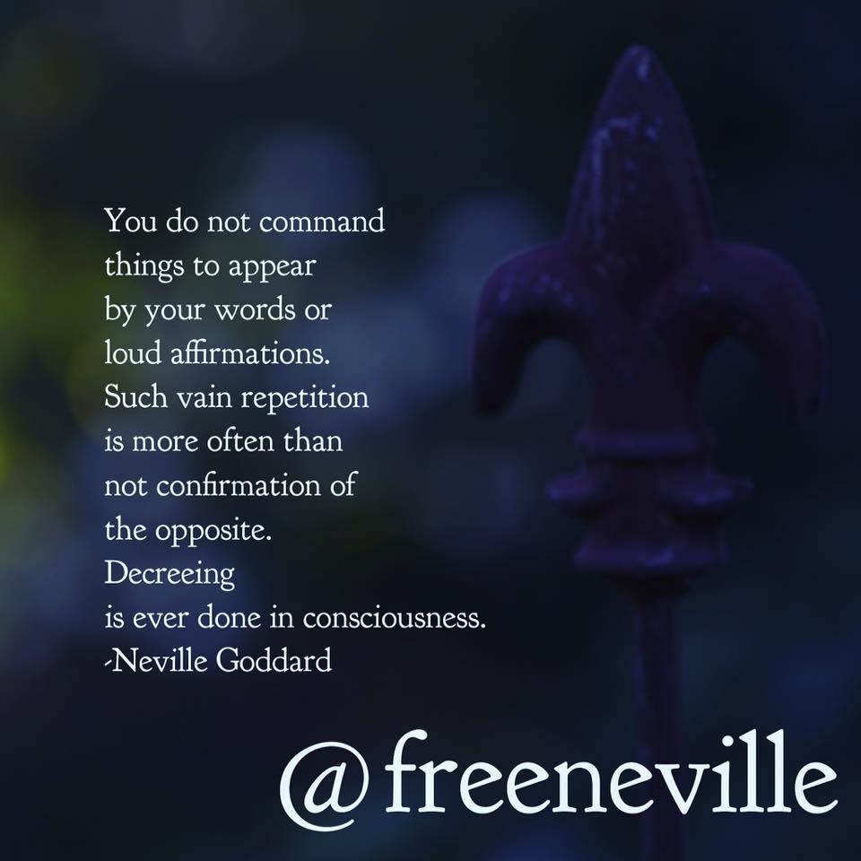 at your command neville goddard