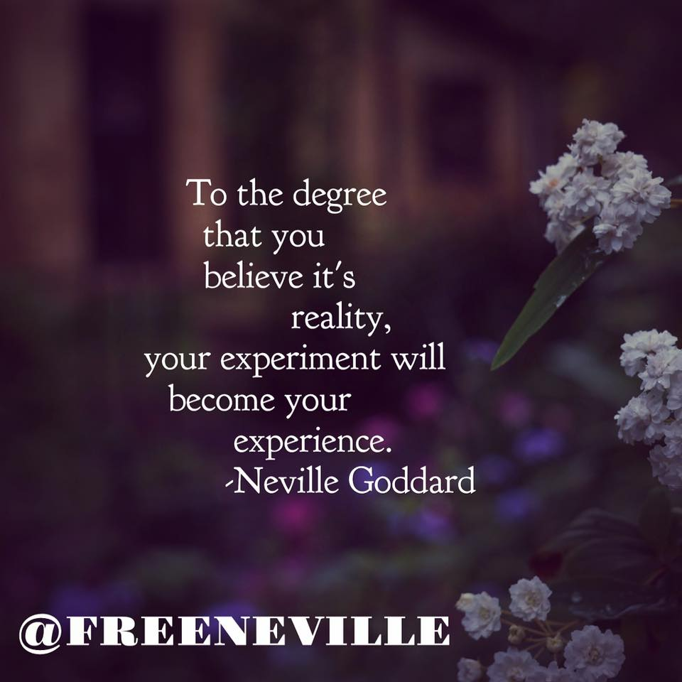 how to feel it real neville goddard