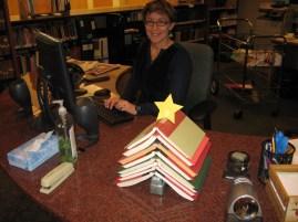 Tatjana and Book Christmas Tree