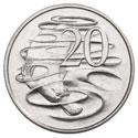 Монета Австралии номиналом 20 центов