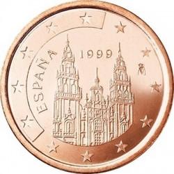 """Монета """"Испания - 1 евроцент (1999-2009)"""""""